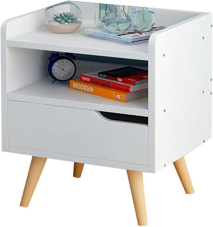 Nightstand with Drawer Wood-Based Panel Storage, Bedroom Locker Bedside Storage Box Bedside Table (color    2, Size   33  28  42cm-A)