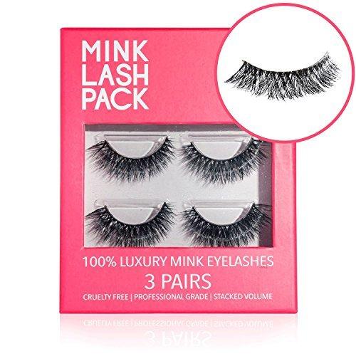 Mink Eyelashes - Best False Eyelashes - Premium Fake Eyelashes - Reusable Velour...