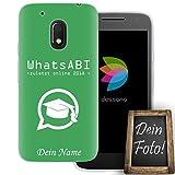 dessana Abi Motto Coque de protection en silicone TPU pour Motorola Moto G4 Play avec texte...