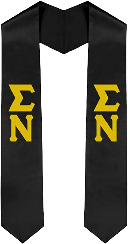 Sigma Nu New Greek Lettered Graduation Sash Stole