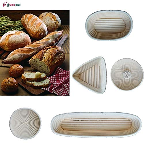 Een verscheidenheid aan modellen Dough rotanmand Deeg Banneton Brotform Brood Proofing Proving Fermentation Land Manden (Color : Round XXXL)