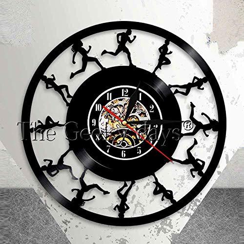 HCPGZ Jogges Unnes Wand an der Wanduhr Unning Tack und Field Spots Vinyl Ecod Wanduhr CSS County Unnes Et Clock