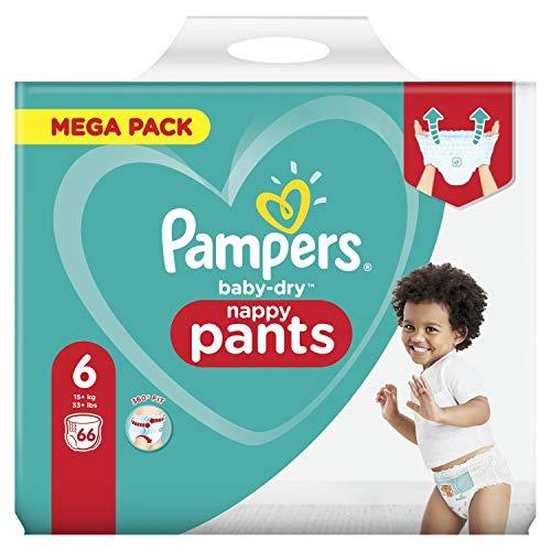 Pampers 81714235 Baby-Dry Pants windelhose, weiß, 66 Stück
