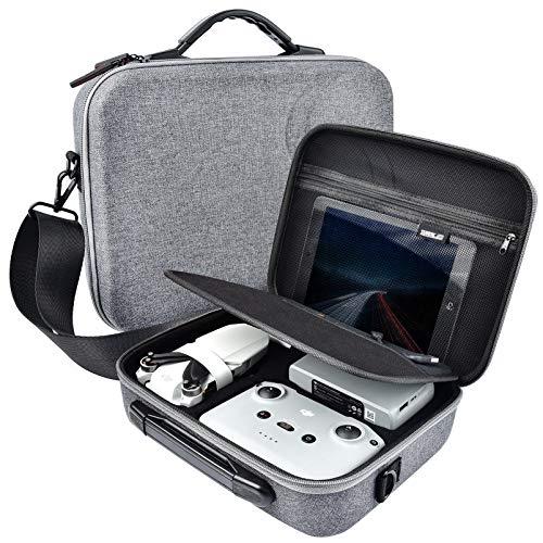 iEago RC Mini 2 Tragbar Tragen Fall Einstellbar Schulter Tasche PET Ballaststoff Lager Fall mit Schulter Gurt Kompatibel mit Drohnen und Fernbedienung für DJI Mavic Mini 2 (nicht für Mavic Mini)