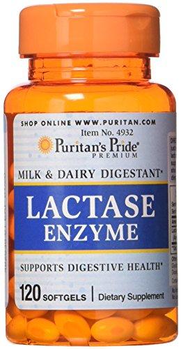 Puritans Pride Lactase Enzyme 125 Mg, 120 Count