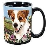 Imprints Plus Dog Breeds (E-P) Jack Russell 15-oz Coffee Mug Bundle with Non-Negotiable K-Nine Cash (jack russell 100)