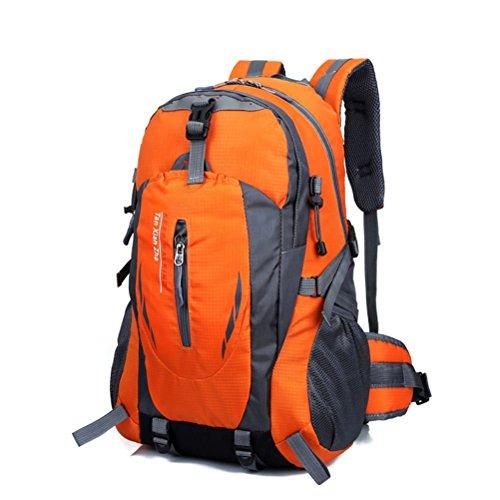 Pixnor Sports de plein air imperméables escalade sac à dos couvrent alpinisme Backpack Sac à bandoulière Camping randonnée sac à dos (Orange)