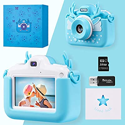 Bruiefpap Kids Camera 3 Inch HD Touch Screen Digital Camera 1080P IPS Child Video Camcorder from