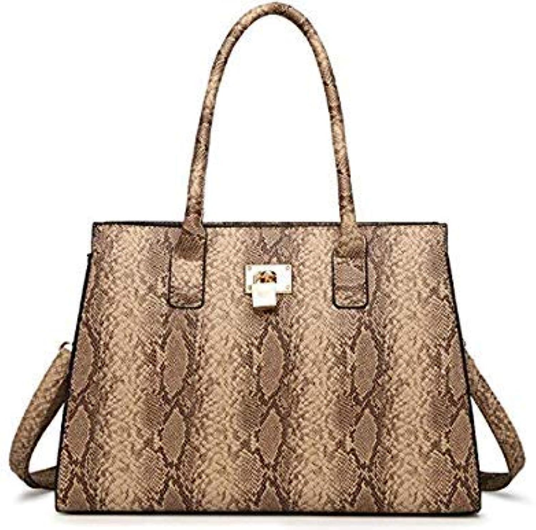 Bloomerang Luxury Brand Snake Bags for Women Luxury Handbags Women Bags Designer Large Capacity Tote Bag hobos Handbag with Lock Key color Khaki 35cmX15cmX25cm