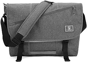 OIWAS Messenger Bag for Men Travel Shoulder Bag Satchel Bags 15.6 Inch Laptop Large Crossbody School Briefcase Computer Work College Women Grey