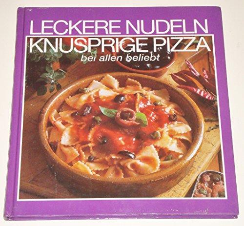 Leckere Nudeln knusprige Pizza, bei allen beliebt