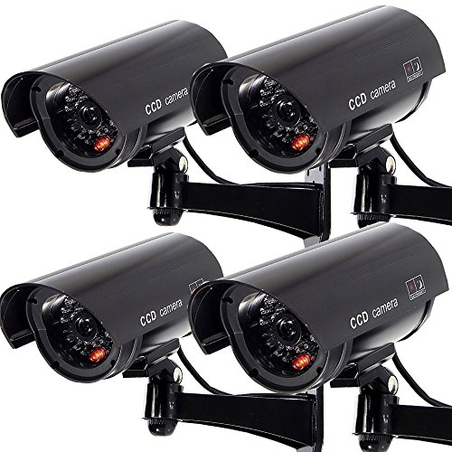 Why Choose Outdoor Fake Security Camera, Dummy CCTV Surveillance System with Realistic Red Flashing ...