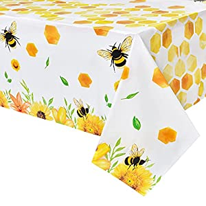 🐝 - Bees gather nectar from flowers and send them back to their hive, just like sending happiness to everyone at the party. 🐝 - Our bee tablecloths are not only suitable for birthday, baby shower, bee themed parties, but also for outdoor use such as ...