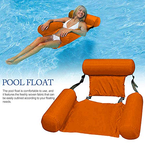Amaca Gonfiabile Pieghevole Floating Sofa Chair Piscina Beach Float Lounger Chair Amaca per Adulti di Relax Solarium Pool Party Floating Bed