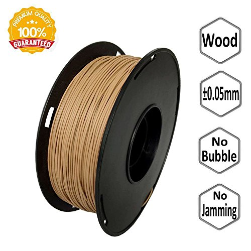 NOVAMAKER Wood 3D Printer Filament 1.75mm - Wood Filament 1KG (2.2lb), Diameter Accuracy +/- 0.05mm