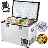 VEVOR Car Freezer,63 Quart Portable Chest Freezer,60L Deep Freezer Single Door,Compressor Deep Freezer with Removable Basket,Electric Powered Cooler from 50℉ to -4℉,for Car Home Camping Truck Party