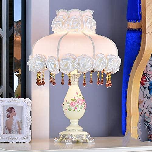 BBZ Lámpara de mesa, resina de decoración de lámpara, tradicional, adecuado para dormitorio o mesita de noche, sala de estar, modelo de hotel y varias decoraciones