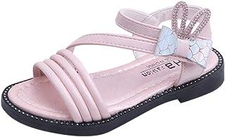 Wascoo_Enfant Mode filles sandales été arc strass oreilles de lapin chaussures de princesse chaussures romaines (26-36)