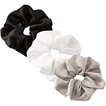 Women Big New Faux Leather Solid Scrunchie Hair Ring Hair Sports Hair Bands V0E0