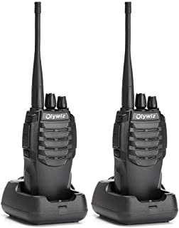 Olywiz Walkie Talkie Long Range Two-Way Radio Rechargeable 1800mAH Battery (Ultra-Long Standby) 16CH UHF406-470Mhz Up to 6 Miles 2 Way Radios 2 Pack HTD826