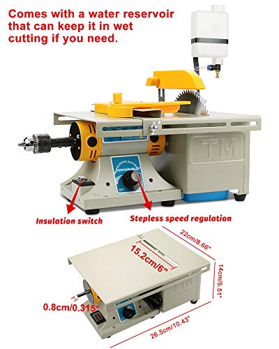 Mini Table Saws DIY Jewelry Lapidary Equipment, Benchtop Buffer Rock Grinder Polishing Machine 0-10000r/min with Flexible Shaft 110V