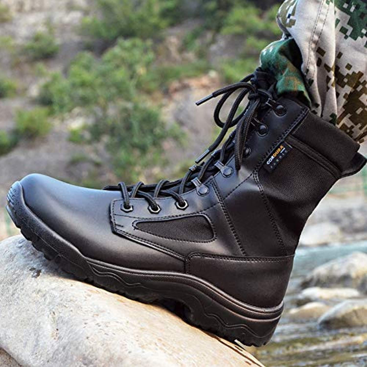 HCBYJ shoes Ultralight combat boots tactical boots lightweight breathable military shoes men's special forces training