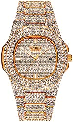 Rose Gold Dual Rhinestone Bezel Dress Watch