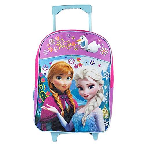 Fast Forward Little Girls' Frozen Roller Backpack, Pink/Purple, 16x12