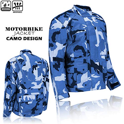 Bikers12 Cordura - Chaqueta impermeable para moto, diseño de camuflaje