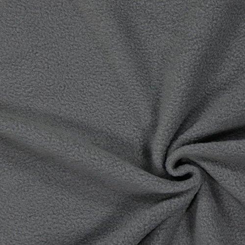Fabulous Fabrics Fleece schiefergrau, Uni, 150cm breit – Fleece zum Nähen von Jacken und Pullovern – Meterware erhältlich ab 0,5 m
