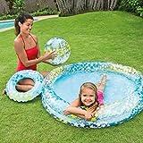 YIQIFEI Piscina para niños, PVC Bebé Inflable Estrella de Peces Piscina Bola Agujero de Drenaje Piscina para niños Bañera para niños Natación portátil (Piscina)