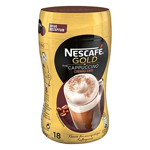 Nescafé Gold Typ Cappuccino, Cremig Zart, Löslicher Bohnenkaffee, Instantkaffee, Kaffee, Dose, 5 x 250 g, 12311730