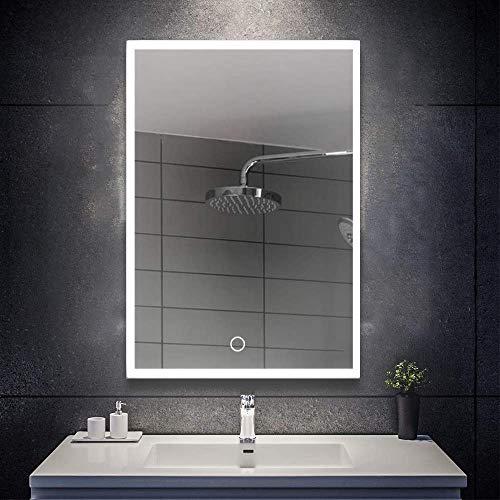 Specchio da bagno con illuminazione LED e intelligente, specchio luminoso, illuminazione con...