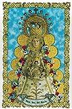 Virgen del Rocío. Azulejo fabricado artesanalmente para decorar. Cerámica para colgar. Calca cerámica (20x30 cms)