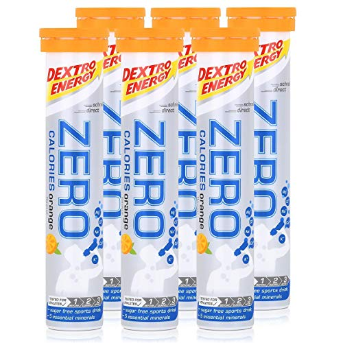 Dextro Energy Zero Calories Brausetabletten Orange flavour 80g (6er Pack)