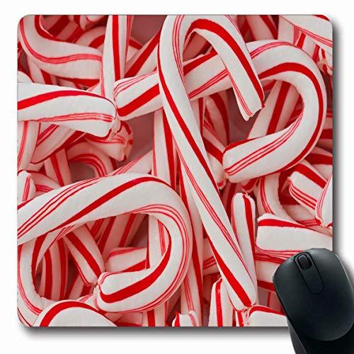 Mausemat Gemalte Textur Pfefferminze Süßigkeiten Süßigkeiten Elegantes Essen Trendy Stilisierte Stöcke Handgemachte Feiertage Cane Office Games Mausmatte Oblong Mousepad 25X30Cm L