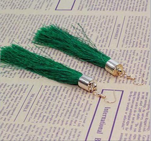 Oorbel bengelen kwast oorbellen zwarte vintage kwast oorbellen lange grote bengelen oorbellen vrouwelijkee0163gree