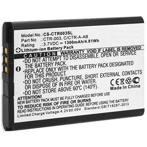 Batteria per Nintendo 3DS - Nintendo 2DS, new 2DS XL, N2DS XL - Controller di Nintendo Wii U Pro (sostituisce batteria originale Nintendo CTR-001, CTR-003)