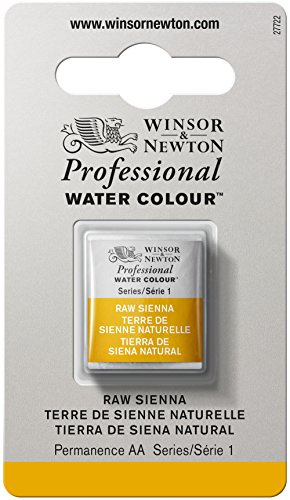 Winsor & Newton Professional Pintura a Base de Agua, Beige (Raw Sienna 552), Media Pastilla