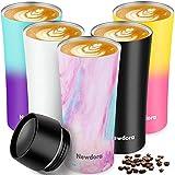 Newdora Thermobecher, Kaffee to go 380ml Becher Travel Mug Isolierbecher Kaffeebecher BPA-frei, Auslaufsicher Reisebecher für Kaffee,Tee,Trinkflasche für Reisen,Arbeit,Schule,Fahren