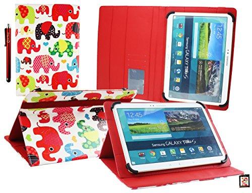 Emartbuy Mediacom SmartPad MX 10 HD Lite Tablet PC 10.1 Pollice Universale (10-11 Pollice) Multicolore Elefantis Angolo Multi Esecutivo Custodia Case Cover con Scomparti per Carte + Stilo