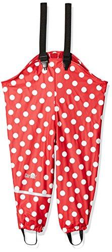 CareTec Pantalones Impermeable con vellón Unisex Niños, rojo (Red 402), 80
