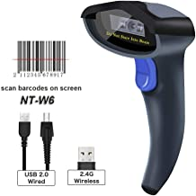 NETUM Wireless CCD Barcode Scanner - Handheld Cordless 1D Bar Code Reader 2.4G Wireless and USB Wired Scan on Mobile Payment Screen Laptops PC Computer for POS System Supermarket Retail Inventory