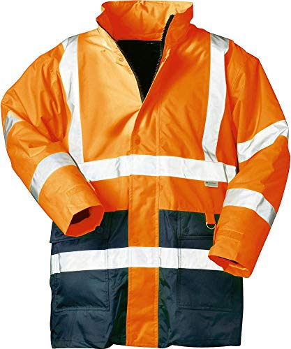 Warnschutzparka, Gr. XL, orange-blau