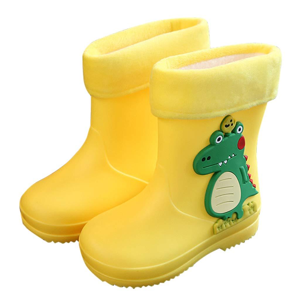 Kids Rain Boots Boys Girls Childrens Rubber Boots Waterproof Wellington Toddler