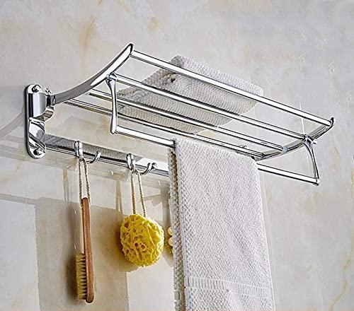 MWKL Toallero, 304 Acabado pulidoi Barra de suspensión de Acero Inoxidable, 90 Toallero Plegable, para Cocina Baños Lavabos Armarios-Type_B-Punch-60cm