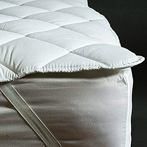 AirComfort Deluxe Hotel Quality Mattress Topper - Microfibre Soft Peach Touch - Single Double King Super King Size (5FT KING)