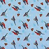 Baumwollstoff Superman hellblau - Preis gilt für 0,5 Meter