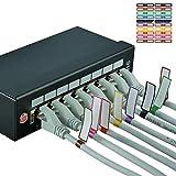 AIXONTEC 20 Kabelfahne Cable Flag selbstklebend Kabeletiketten Wickeletiketten Kabel Label Mehrfarbig beschriften Kabelmarker bunt 20 Etiketten pro Kabeletikettbogen Datenkabel Organizer