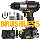 Best Brushless Drills - Brushless Drill Driver, Cordless Impact Drill with 2pcs Review